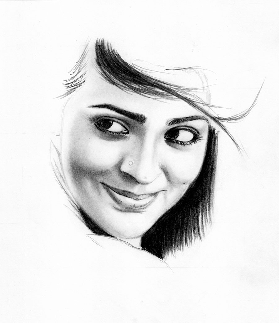 Learn To Draw A Realistic Portrait With Pencil Creative Gaga